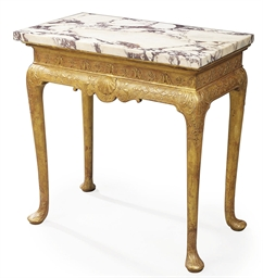 A QUEEN ANNE GILT-GESSO SIDE T