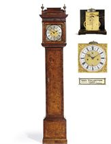A WILLIAM III WALNUT AND BURR-WALNUT STRIKING MONTH-GOING LONGCASE CLOCK