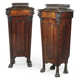 A PAIR OF REGENCY BRONZED MAHO