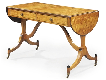 A GEORGE III SATINWOOD AND EBO