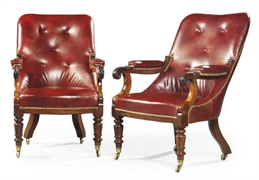 A PAIR OF REGENCY ROSEWOOD ARM