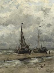 Bomschuiten on the beach