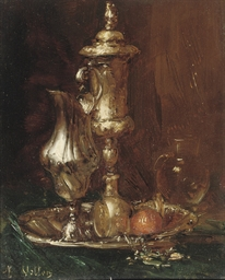 A still life with goblet and g