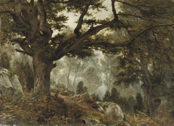 The forest of Fontainebleau, F