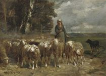 A shepherdess and her flock