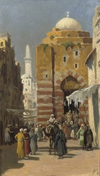 An Oriental street scene