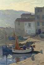 Kleine Visserhaven: fishermen in the harbour of St. Tropez