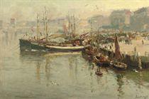Voorjaarsochtend Scheveningse haven: a busy day in the harbour of Scheveningen