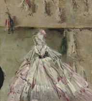 A doll in a pink dress