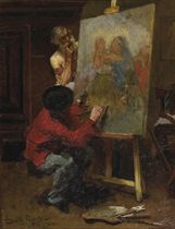 An allegory of time: the artist in his studio