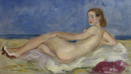 Nu allongé: reclining nude