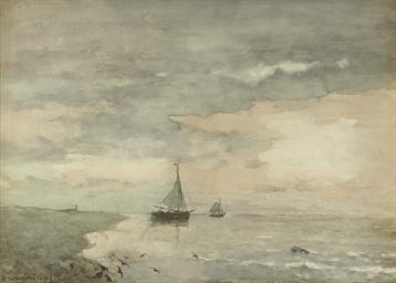 Shipping on a calm sea