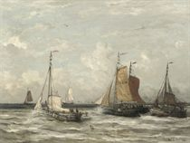 Uitvarende vissersvloot: setting out to sea