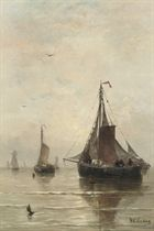 Bomschuiten on a calm sea