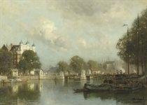A view of the Vierleeuwenbrug in summer, Rotterdam