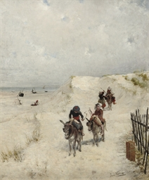 Donkey riders in the dunes