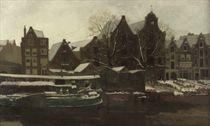 De Nieuwe Teertuinen te Amsterdam (winter): Amsterdam in Winter
