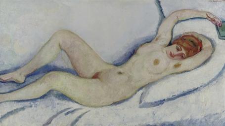 Reclining nude: Greet posing