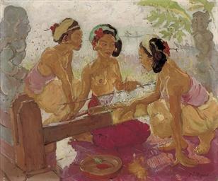 Balinese weavers