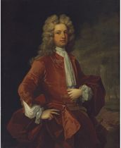 Portrait of Thomas Western, Esq., three-quarter-length, in a red coat
