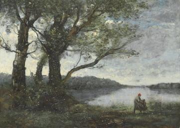 Les trois arbres en vue du lac