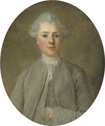 Portrait of a young boy, half-