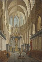 The choir of the Saint Bavo Cathedral, Ghent