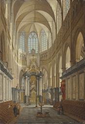 The choir of the Saint Bavo Ca