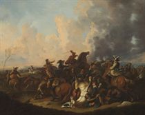 A battle skirmish