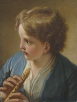 A Young boy with a flute