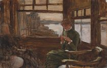 Study of Kathleen Newton in a Thames-side Tavern