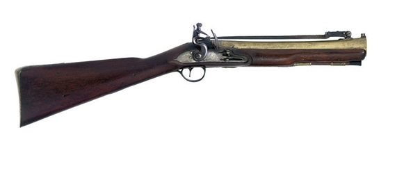 A FLINTLOCK BLUNDERBUSS BY RIC