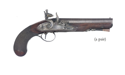 A PAIR OF FLINTLOCK PISTOLS BY