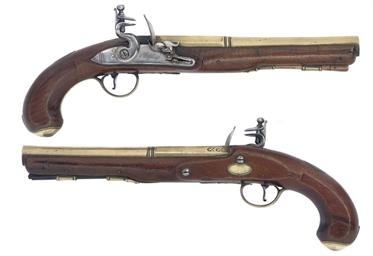 A RARE PAIR OF FLINTLOCK HOLST