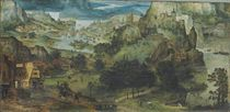 An extensive landscape with the Flight into Egypt