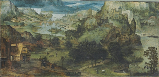 An extensive landscape with th