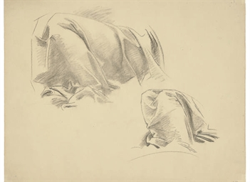 Drapery study for murals at th