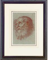 Head of a bearded man; and three companion drawings