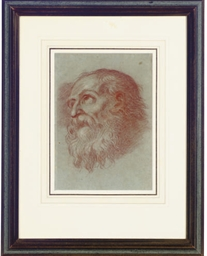 Head of a bearded man; and thr