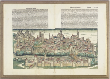 [View of Basel]; and two compa