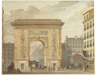 The Porte Saint-Denis in Paris