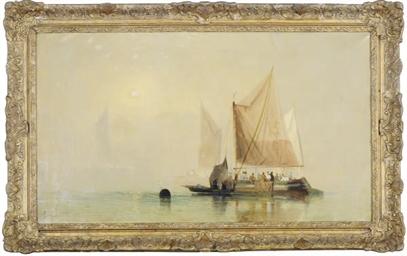 Fishing fleet on a hazy day
