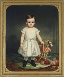 Portrait of a child with a hoo