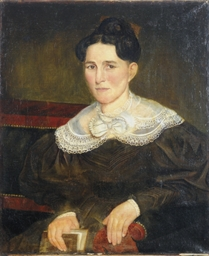 Portait of a lady seated on a