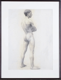 Standing academic male nude, P