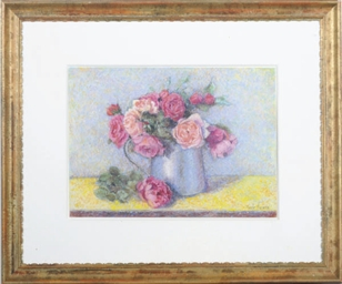 Still life of pink roses in a