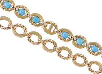 A GROUP OF TURQUOISE, DIAMOND