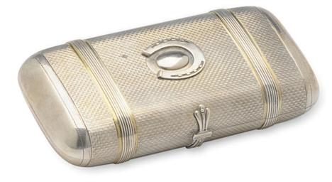 A RUSSIAN SILVER CIGAR CASE,