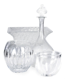 A GROUP OF THREE FRENCH GLASS