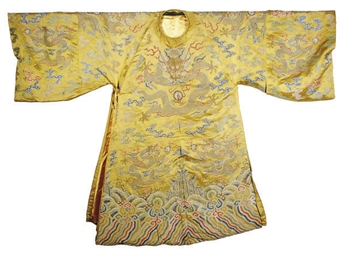 A CHINESE YELLOW-GROUND SILK B